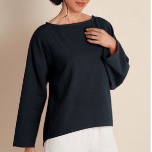 {Soft Surroundings} Black Gauze Pullover Top